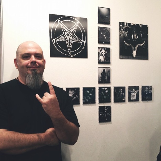 In front of my installation. Photo by Jazmin Galindo Hull. (click to embiggen)